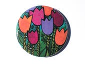 Tulips Pin or Magnet - Tu...