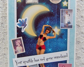 """Your Sparkle Has Not Gone Unnoticed Card comes w 1"""" Pin Back Button-Be Yourself Card-Be Your Authentic Self Card- Be True to You Card"""