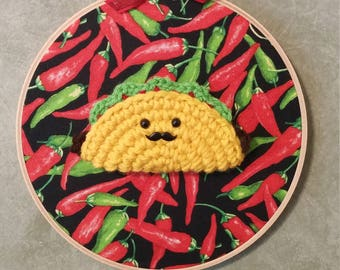 Taco Bout Awesome - Crochet Taco Wall Art