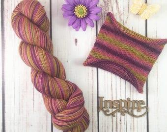 General Discontent: Hand-dyed gradient sock yarn, 70/20/10 SW merino, yak, nylon