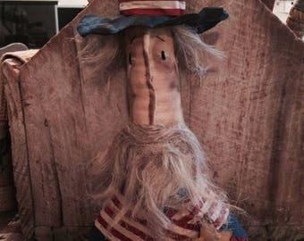 CustomerAppreciationSale Primitive Americana Uncle Sam  Bust