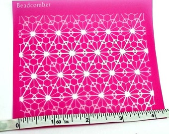Geometric Silkscreen for Polymer clay, Fabric, Paper, Wood, Ceramics, Metal, Glass and screening paint on smooth surfaces
