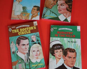 4 / four VINTAGE Harlequin romance medical themed paperbacks