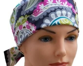 Scrub Hats // Scrub Caps // Scrub Hats for Women // The Hat Cottage // The Mini // Fabric Ties // Boho