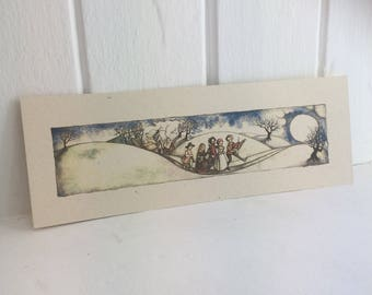 Pilgrim Moon - slim 11 x 4""