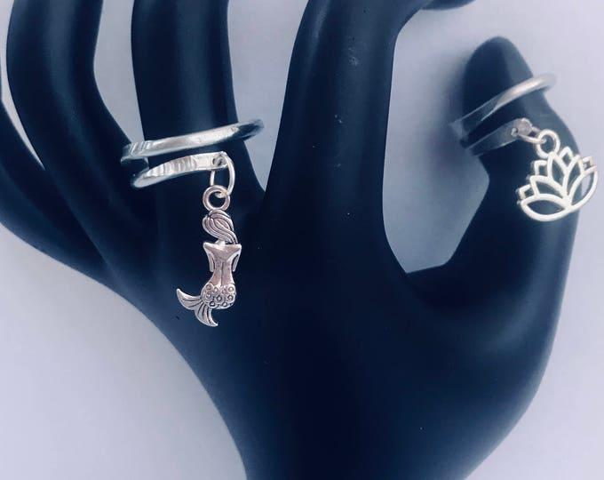 Knuckle Ring *Boho Ring *Mermaid Ring *Half Finger Ring *Gyspy Ring *Lotus Ring *Adjustable Silver Ring