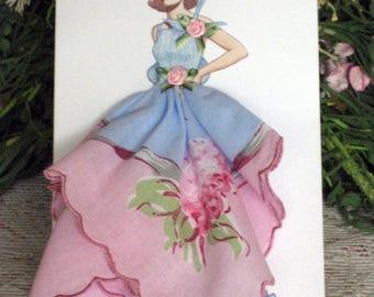 1935 Madame Rochas Keepsake Hanky Card