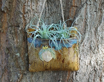 Tree Spirit Ceramic Wall Pocket