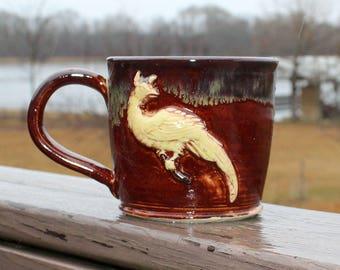 Phoenix mug - red/brown