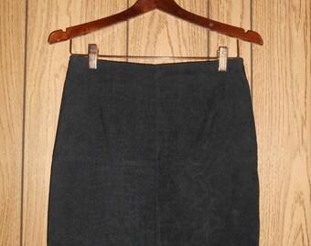 Vintage short black snake skin print   mini skirt 80s 90s