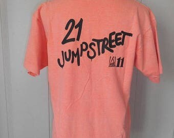 Closing Shop 40%off SALE Vintage 80s 90s   KIISFM 102.7             21 Jump Street   Fox News    tee  shirt t shirt        neon