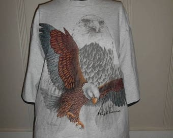 Closing Shop 40%off SALE Vintage top tee t shirt        Bald Eagle    High Sierra            clothing clothes