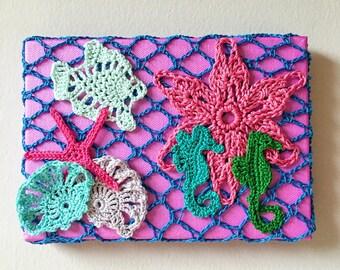 Magic Crochet Ocean on Canvas