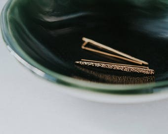 diamond dusted earrings | SPIKES
