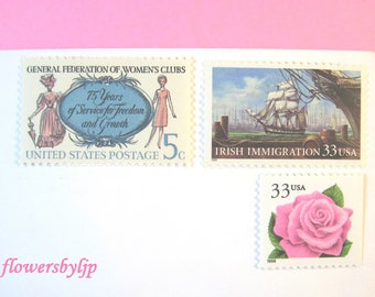 Ladies Wedding Postage Stamps, Victorian and Mod Women - Pink Rose - Ship Stamps, Mail 20 Wedding Invitations 2 oz, 71 cents postage, LGBTQ