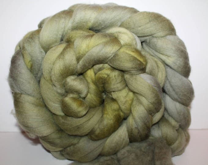 Kettle Dyed Merino Wool Top. Super fine. 19 micron  Soft and easy to spin. Huge 1lb Braid. Spin. Felt. Roving. M333