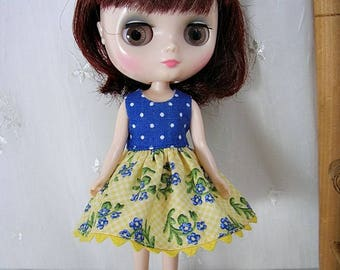 Middie Blythe Dress, Yellow  Blue