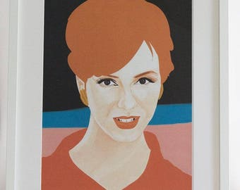 Framed 'Joan Holloway' A3 Digital Print