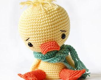 Amigurumi Crochet Duck Pattern - Chico the Duck - Softie - Plush