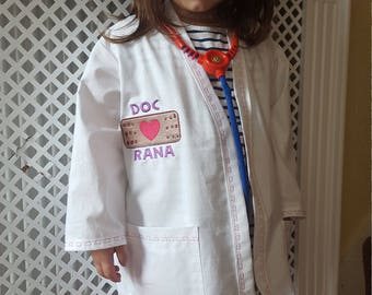 Personalised Doc Mc stuffins Inspired Lab Coat Costume aged 2-8