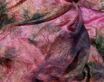 Aztec in  Hand Dyed Habotai Silk  for Nuno Felting