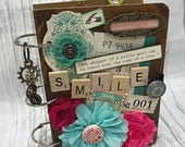 3 Ring SMILE Planner Organizer Mini Album Junk Journal Smash Book Scrapbook Art Journal