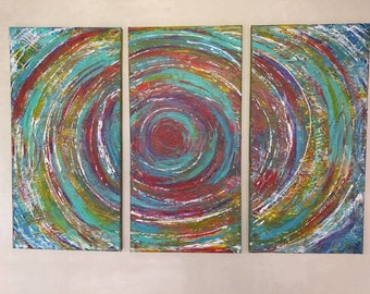 Art canvas Abstract Painting home decor   by eileenaart