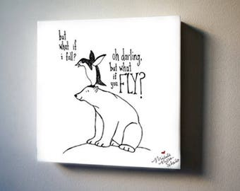 "What If You Fly? 8""x8"" Canvas Reproduction"