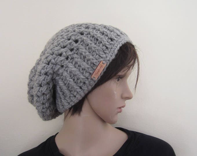 Crochet beanie, slouchy beanie, warm hat, womens crochet beanie,winter fashion, gift for her, Chunky slouchy  beanie, holiday gift for her