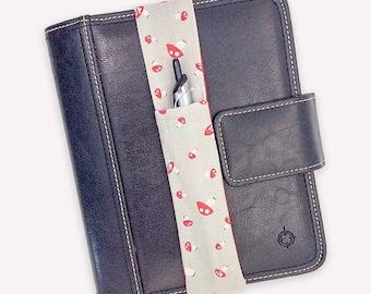 Toadstool Mushroom Theme Pretty Pen Pocket Planner Band Pen Holder