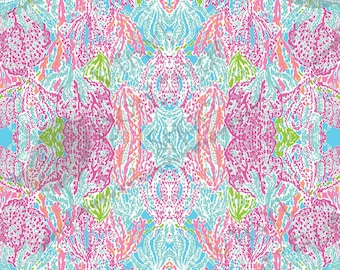 """Let's Cha Cha Lilly Inspired HTV, pattern vinyl, sheet size 12""""x12"""" , Lily P adhesive printed patterned craft vinyl LP-1ss"""
