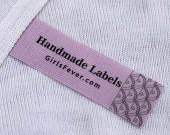 Light thin color cotton labels personalized sew in labels clothing labels PRE-CUT 100 pcs