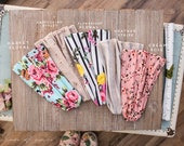 Flower Shop Floral Headwrap || Garlands of Grace convertible Stretch print headband headcovering hair wrap
