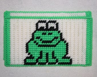 Frog checkbook cover