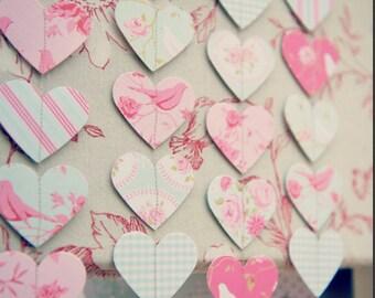 Valentines Day Decor, Valentine Decorations, Valentine Garland, Shabby Chic  Decor, Shabby Chic