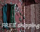 LINGERIE Kit Mauve & Garden Flowers for 1 BRA + Panty FREE Shipping by Merckwaerdigh