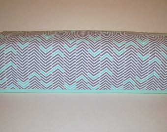 Cricut Dust Cover / Expression / Brother Scan-N-Cut Cover / Cricut Easy Press / Cricut Machine Protector / Quilted / Gray & Mint Chevron