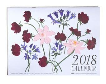 2018 Flower Calendar