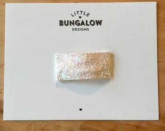 White Confetti Chunky Glitter Snap Hair Clips // Glitter Snap Clip // Glitter Hair Clip // Barrette // Pink Hair Clip
