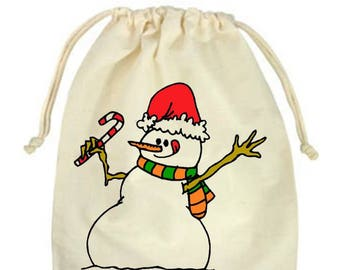 Snowman treat bag | Etsy