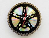 Bike Gear Clock, bike parts clock, cyclist gift, boyfriend gift, girlfriend gift, bicycle parts gift, unique upcycled bike clock, steampunk