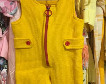 70s Overalls 12/18 Months
