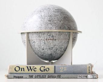 "Vintage Moon Globe, 6"" tin globe by Replogle"