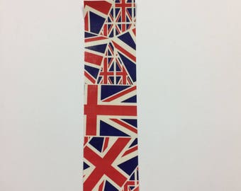 Bookmarks - duck duct tape - union jack Great Britain Flag