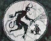 Reserved for the Crystal Skull Krampus Batik L Unisex Shirt Large