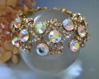 Vintage Aurora Rhinestone Bracelet wedding bracelet