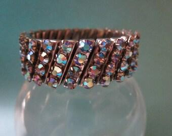 Vintage Aurora Rhinestone Expansion Bracelet