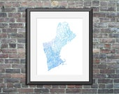 New England watercolor ty...