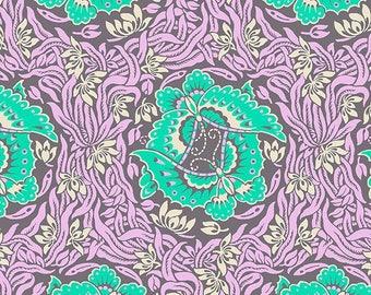 FAT QUARTER - Amy Butler Fabric, Violette, Take Flight, Zinc, Floral, cotton quilting fabric