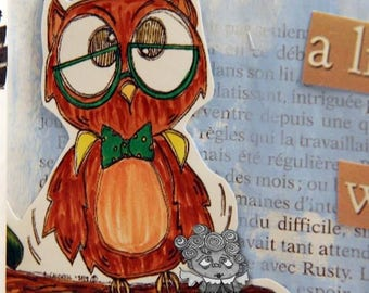 1657 Owl See Whats Up Digi Stamp